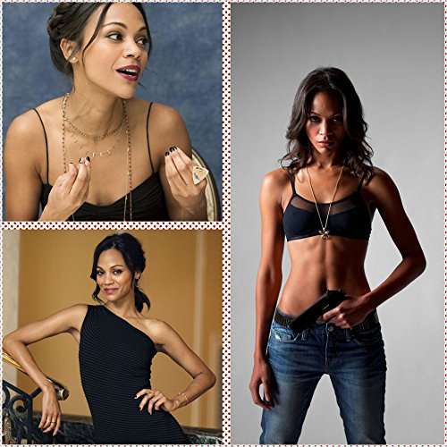 390 Zoe Saldana 24x24 inch Silk Poster Aka Wallpaper Wall Decor By - Home Saldana Zoe