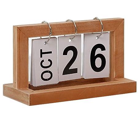 Justdolife Calendario De Mesa De Bricolaje Calendario De ...