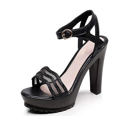 687f389b3f98 Simple high Heels Popular Women s Shoes Platform Sandals Casual Shoes(Black  36 5.5 B
