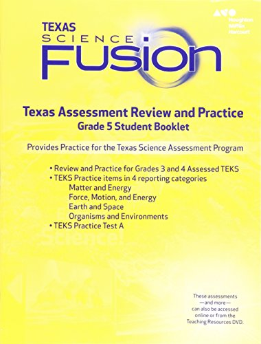 Houghton Mifflin Harcourt Science Fusion  Texas Assessment Review And Practice Grade 5