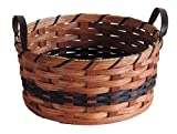 amish baskets and beyond - Amish Handmade Medium Round Fruit Basket in BLUE