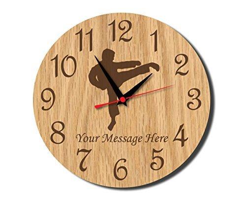 Karate / Martial Arts Rustic Wooden Wall Clock Decorative Vi
