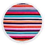SunnyLIFE Oversize XL Round Towel Printed Beach Blanket Pool Throw - Hamilton