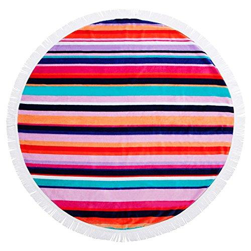 SunnyLIFE Oversize XL Round Towel Printed Beach Blanket Pool Throw - Hamilton by SunnyLIFE