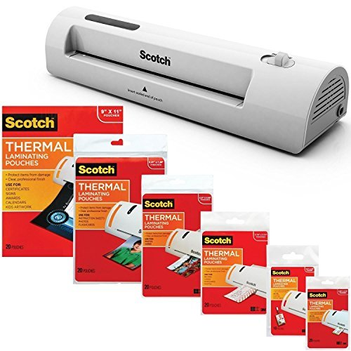 3M Laminator Kit With Every Size Laminating Pouch ()