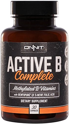 Onnit Active B Complete - Methylated B Vitamins with 5-MTHF Folic Acid and Benfopure (B-complete Vitamins)