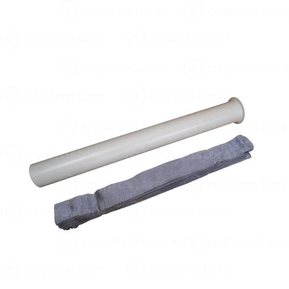 Set rivestimento con nuovo tessuto tecnico intestensibile per tubo flex Ø32 da mt 7 (12) AspiraStore