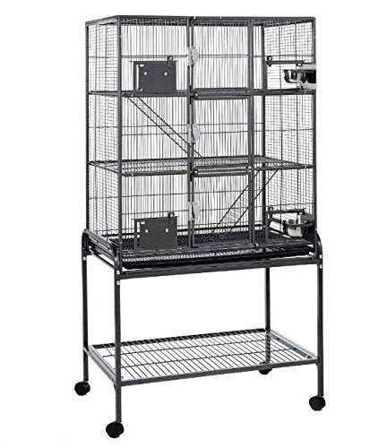 Jaula de 3 niveles de metal para animales pequeños, con soporte y ...