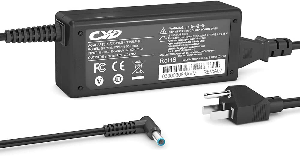CYD 45W 19.5V 2.31A Replacement for Laptop-Charger HP 740015-002 741727-001 HSTNN-CA40 7400015-001 740015-003 719309-003 721092-001 719309-001 ADP-45WD B HSTNN-DA40, 9.35Ft (2.85m) AC Adapter Cord