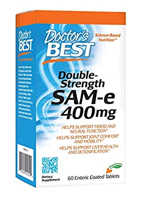 Doctors Best SAM-e 400 mg, Vegan, Gluten Free, Soy Free, Mood and Joint Support