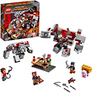 LEGO Minecraft The Redstone Battle 21163 Cool Minecraft Set for Kids Aged 8 and Up, Great Birthday Gift for Mi