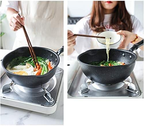 N/A ECSWP Pot de Soupe - cuisinière à gaz de Cuisson antiadhésif for marmite Multi-Fonctions Moins de fumée Wok Domestique Casserole avec Couvercle (Size : 24cm)