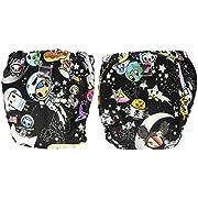 Kanga Care Lil Joey 2 Piece All in One Cloth Diaper, Tokispace/Multi, Newborn