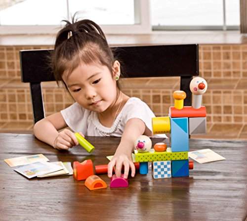 HABA Brain Builder Peg Set Building Blocks with Pattern Cards & 3 Levels of Difficulty for Ages 2+ by HABA (Image #2)