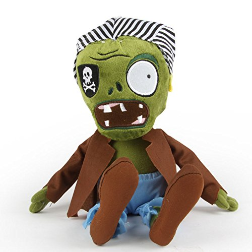 Shalleen NEW HOT Soft Plush Kid Toy Doll Game Figure Plants vs Zombies Pirate Zombie (Homemade Boys Pirate Costumes)