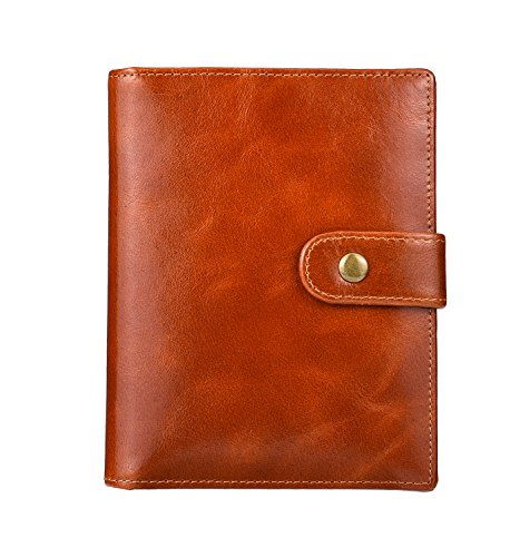IDEAWIN RFID Travel Wallet Case Genuine Leather Trifold 2 Passport Holder Wallet