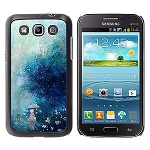 MOBMART Carcasa Funda Case Cover Armor Shell PARA Samsung Galaxy Win I8550 - Rain Falling In Misty Woods