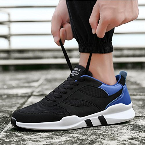 Scarpe da uomo sneaker maglia Scarpe da corsa autunno inverno slittata luce traspirante maschio studente tempo libero Scarpe sportive , Blue , 42