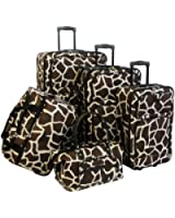 American Flyer Luggage Animal Print 5 Piece Set