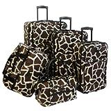 American Flyer Luggage Animal Print 5 Piece Set, Giraffe Brown, One Size