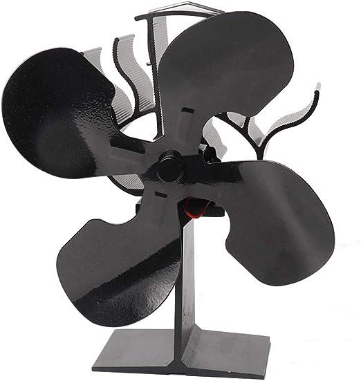 CX ECO Hot Blast Stove Chimeneas de 4 Palas Ventilador para leña/Estufa de leña/Chimenea Ventilador silencioso - Ecológico 80% Súper silencioso: Amazon.es: Hogar