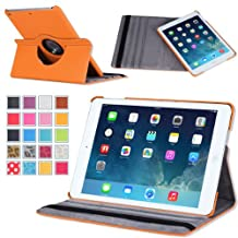 MoKo iPad Air Case - 360 Degree Rotating Case for Apple iPad Air / iPad 5 9.7 Inch 2013 Tablet, ORANGE (With Auto Wake / Sleep, Not fit iPad Air 2 2014)
