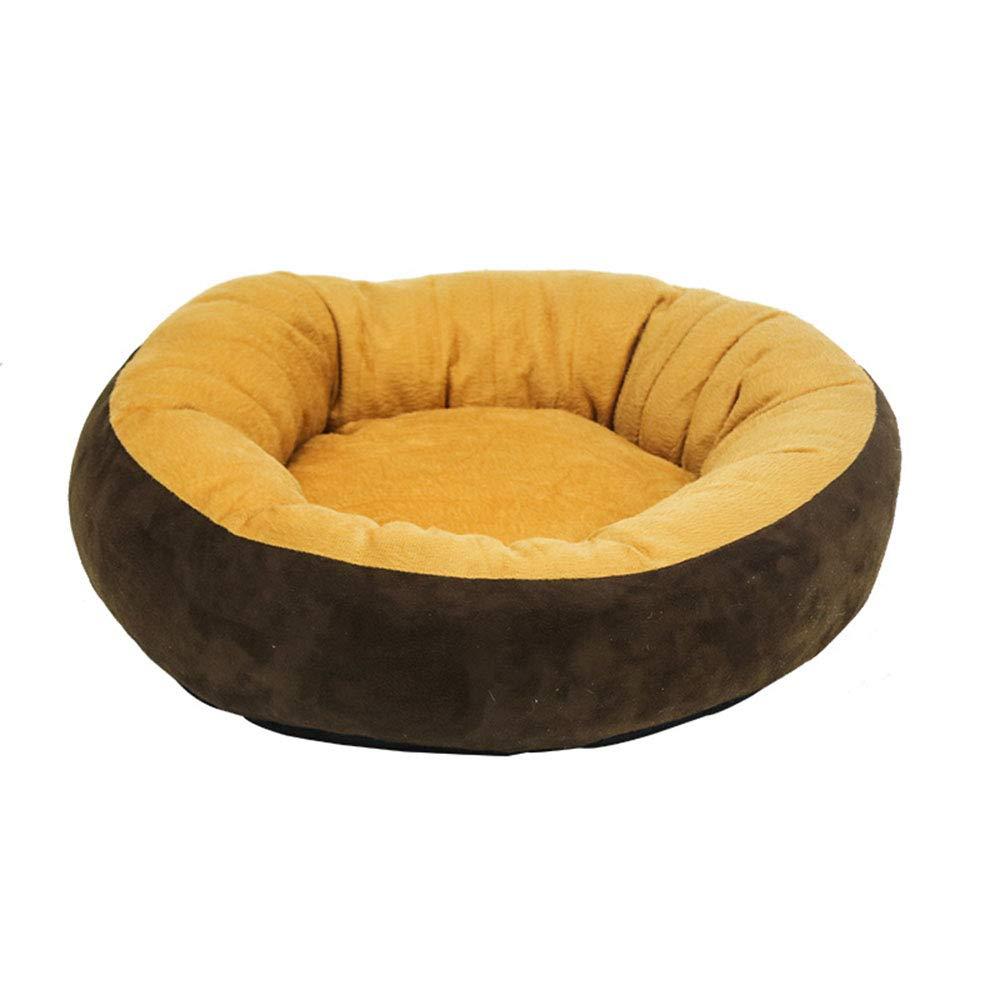 Brown 10022cm Brown 10022cm Pet nest, warm flannel, suitable for kittens, puppies, etc. (color   BROWN, Size   100  22cm)