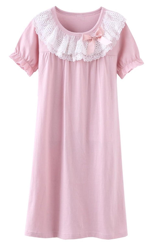 CHUNG Toddler Girls Lace Princess Nightgowns Bowknot Cotton Sleep ...