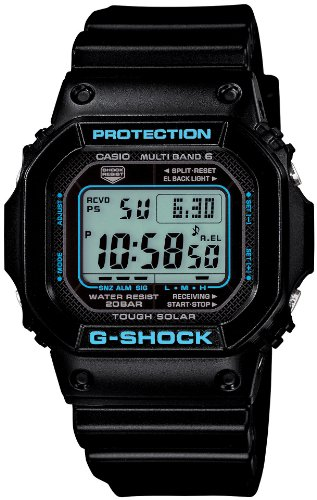 CASIO G-Shock Black X Blue Series (GW-M5610BA-1JF) 6 MULTIBANDS Solar Powered Men's Watch