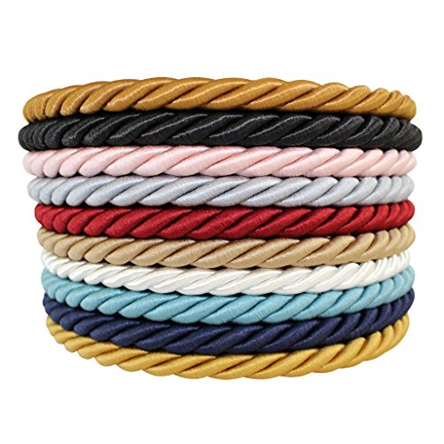 SGT KNOTS Twisted Craft Rope/Décor Trim Cord - 3/16, 1/4, 3/8, 1/2 - Several Colors (1/4 x 10') - Cardinal