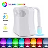 The Original Toilet Night Light Gadget, Fun Bathroom Lighting Add on Glow Bowl Seat, Motion Sensor Activated LED 9 Color Modes - Weird Novelty Funny Birthday Gag Gifts for Men, Dad, Kids & Toddlers