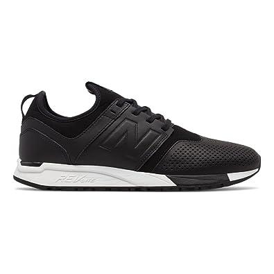 Herren 247v1 Sneaker, Schwarz (Black/White Ve), 47.5 EU New Balance
