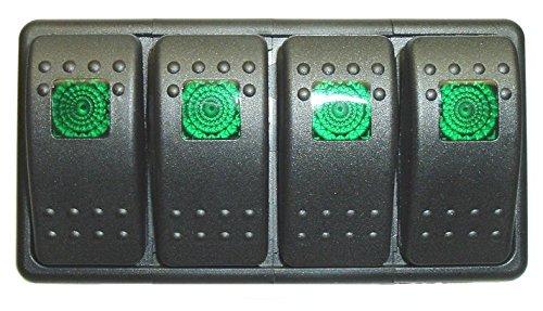 Fastronix Lighted (4) Weatherproof Rocker Switch Panel - Import It on