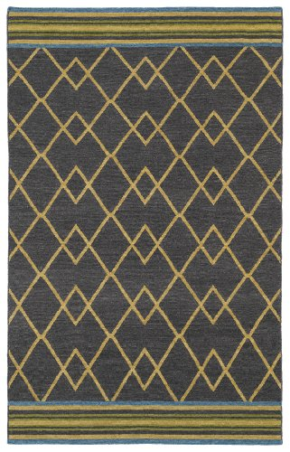 (Kaleen Rugs Nomad Collection Flat-Weave Charcoal Rug (2' x 3'))