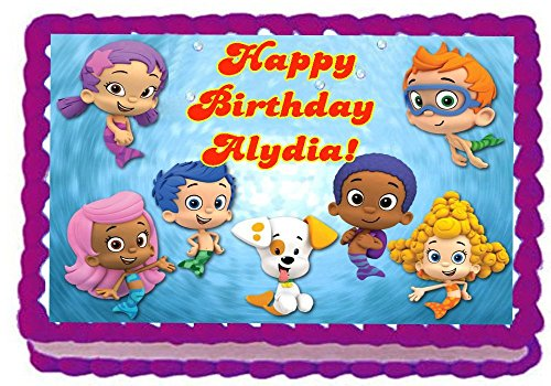 Awesome Bubble Guppies Cake Toppers Shop Bubble Guppies Cake Toppers Online Personalised Birthday Cards Veneteletsinfo