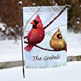 """Personalized Cardinals Double Sided Garden Flag, 12 1/2"""" w x 18"""" h, Polyester"""