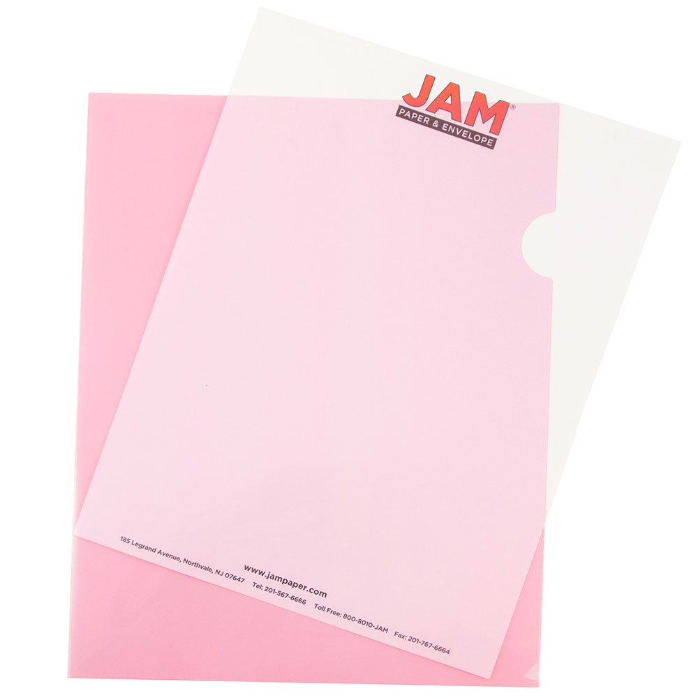 JAM Paper Plastic Sleeves - 228.6 x 292.1 mm (9 x 11 1/2) - Red - 12 per pack 2226316989