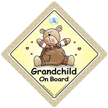 Grandchildren On Board Car Safety Warning Sign