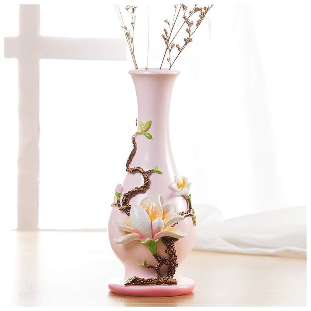 円柱装飾花瓶 花瓶AXZHYZ19060330装飾リビングルーム樹脂フラワーアレンジメント装飾ヨーロッパの小さな新鮮なクリエイティブレトロ小さな花瓶 写真円柱装飾花瓶ライフ花瓶フラワーショップブーケボックス B07SNF52MN