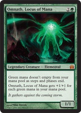 - Magic: the Gathering - Omnath, Locus of Mana - From the Vault: Legends - Foil