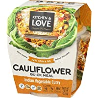 Kitchen & Love Indian Vegetable Curry Cauliflower Quick Meal, Single