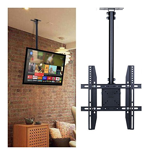 Adjustable Flip Down Pitched Roof Ceiling TV Mount up to 55
