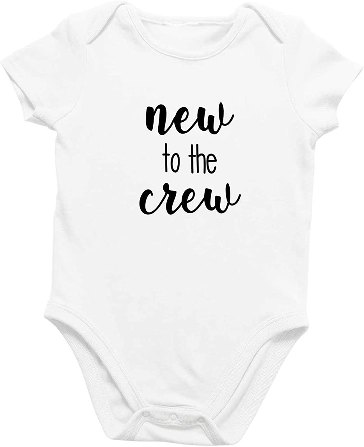 Onesie Organic Baby One Piece Short Sleeve Cute Funny Trendy Minimal Bodysuit 0-12 Months - New To The Crew