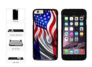 France And USA Mixed Flag Plastic Phone Case Back Cover Apple iphone 5c inches screen) includes diy case Cloth and Warranty Label