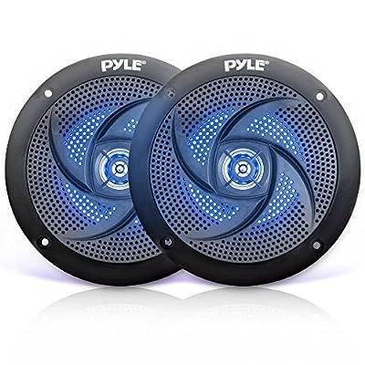 """Pyle Marine Speaker Pair LED Lights, 6.5"""""""
