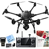 Yuneec Typhoon H RTF Hexacopter Drone w/ CGO3+ 4K Camera Video Recorder Bundle includes Drone, 16GB Flash Drive, 64GB microSD Memory Card, Cleaning Kit, Corel Paint Shop Pro X9 and Beach Camera Cloth