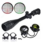 BeamQ Long Range Rifle Scopes 6-24x50mm AOEG Red/Green Illuminated Mil-dot Reticle Crosshair