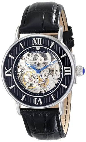 Thomas Earnshaw Men's ES-8038-01 Armagh Analog Display Automatic Self Wind Black Watch