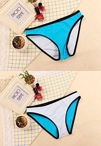 Para mujer traje de baño Structured Bikini bañadores Rosa roja