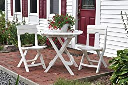 Adams Manufacturing 8550-48-3700 Quik-Fold Cafe Table, White